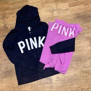 VS Pink Hoodie & Boyfriend Sweatpants